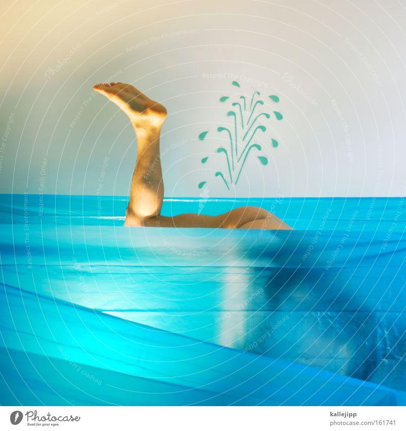 moby dick Wasser Wasserfontäne Wellen Mensch tauchen Suche Wassersport nackt Hinterteil Gesäß Beine Schwimmhilfe Flosse Schwimmen & Baden Comic perlentaucher