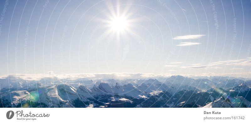 """~~°~~ (""""Frühlingslockruf"""") blau schön weiß Sonne ruhig Winter kalt Berge u. Gebirge Beleuchtung Schnee außergewöhnlich Freiheit hell Horizont Zufriedenheit Eis"""