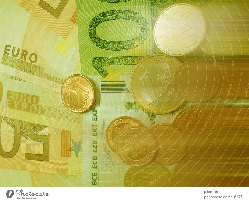 green_money Geld grün Geldscheine Geldmünzen Euro