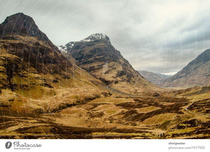 Glen Coe (gälisch Gleann Comhann) Ferien & Urlaub & Reisen Tourismus Abenteuer Berge u. Gebirge wandern Umwelt Natur Landschaft Wolken Frühling Wetter