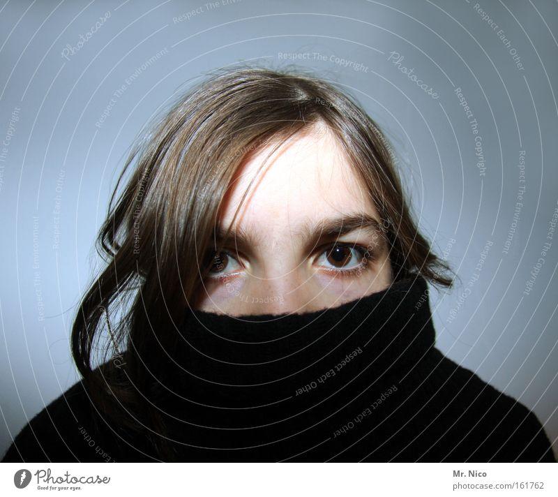 face lifting Jugendliche Gesicht Auge Haare & Frisuren Kopf Bekleidung verstecken Pullover Aussehen Stirn Mundschutz Rollkragenpullover Gesichtsausschnitt