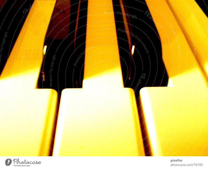 klavier schwarz gelb Musik Freizeit & Hobby berühren Klavier Musiknoten