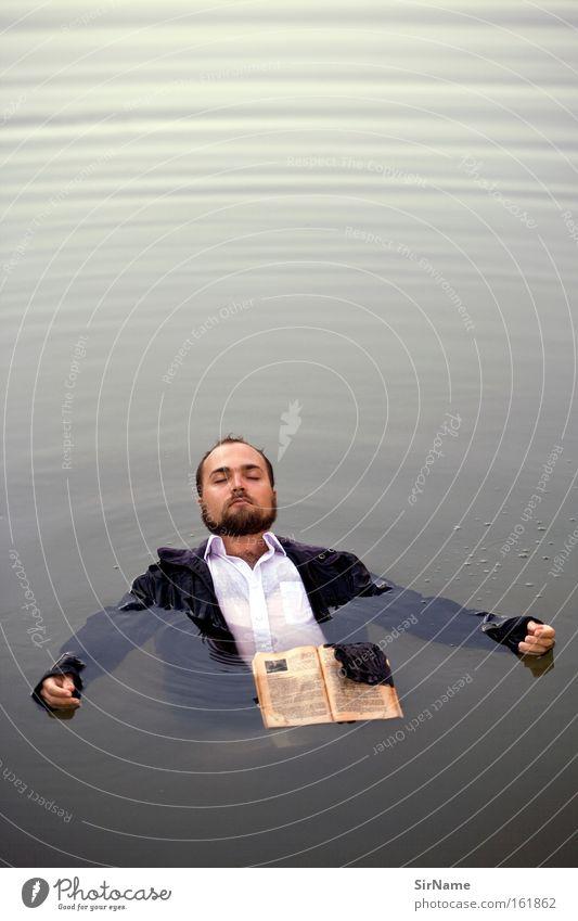 75 [wassermann] Mann Wasser Erwachsene Schwimmen & Baden frei Buch Im Wasser treiben Vertrauen Schweben Medien Schwerelosigkeit zügellos