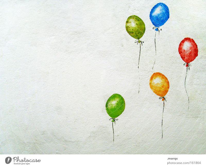 Freude schön Freude Graffiti Glück Party Stein Freundschaft Feste & Feiern Zufriedenheit Kindheit Geburtstag Erfolg Fröhlichkeit Luftballon Kultur Zeichen