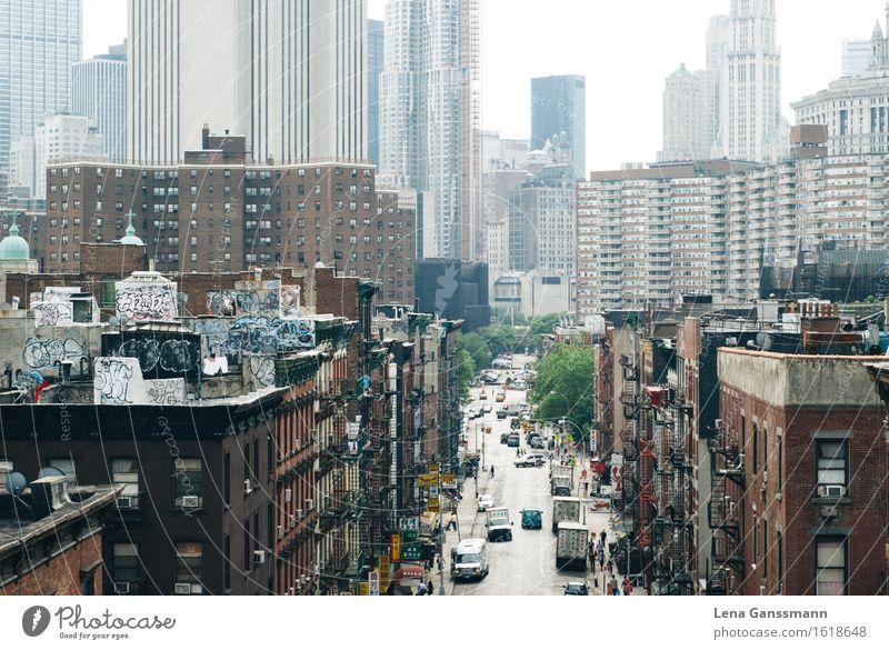 New York, New York Ferien & Urlaub & Reisen Stadt Sonne Haus Ferne Straße Tourismus Häusliches Leben Verkehr PKW modern Hochhaus USA Skyline Stadtzentrum