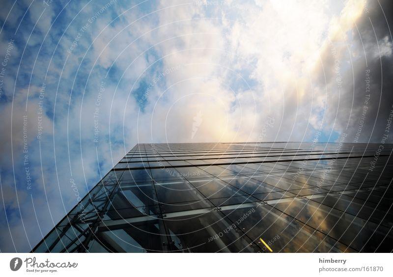 next century Himmel Stadt Fenster Architektur Gebäude Deutschland Fassade Energiewirtschaft modern Glas Hochhaus Zukunft bedrohlich Macht Wissenschaften