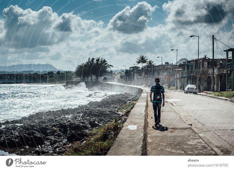 Remix | The Boy From Baracoa Mensch Natur Ferien & Urlaub & Reisen Jugendliche Meer Junger Mann Wolken Ferne Umwelt Straße Küste maskulin Tourismus Wetter