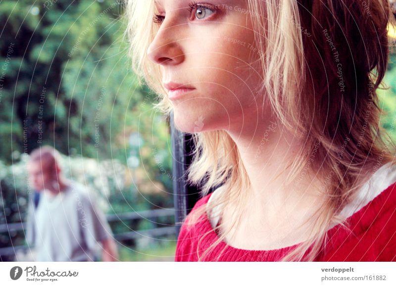 Frau Mensch schön Auge Farbe Gefühle Stil Beautyfotografie