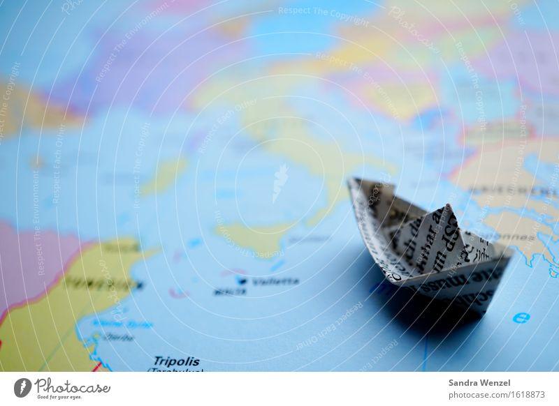 Auf dem Weg nach Europa Ferien & Urlaub & Reisen Sommer Meer Ferne Küste Freiheit Wasserfahrzeug Tourismus Wellen Ausflug Abenteuer Segeln Krieg Mittelmeer