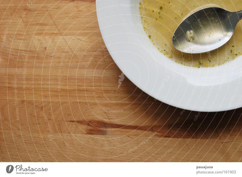 Das H in der Suppe weiß gelb Haare & Frisuren braun außergewöhnlich Ernährung Besteck Kochen & Garen & Backen Küche Tisch Kräuter & Gewürze Appetit & Hunger Flüssigkeit Geschirr Teller Bioprodukte