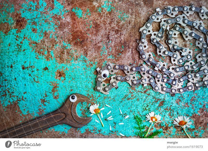 Hey, das ist meins ...... Handwerker Gartenarbeit Arbeitsplatz Baustelle Dienstleistungsgewerbe Werbebranche Pflanze Blume Grünpflanze Tier 2 Essen braun türkis
