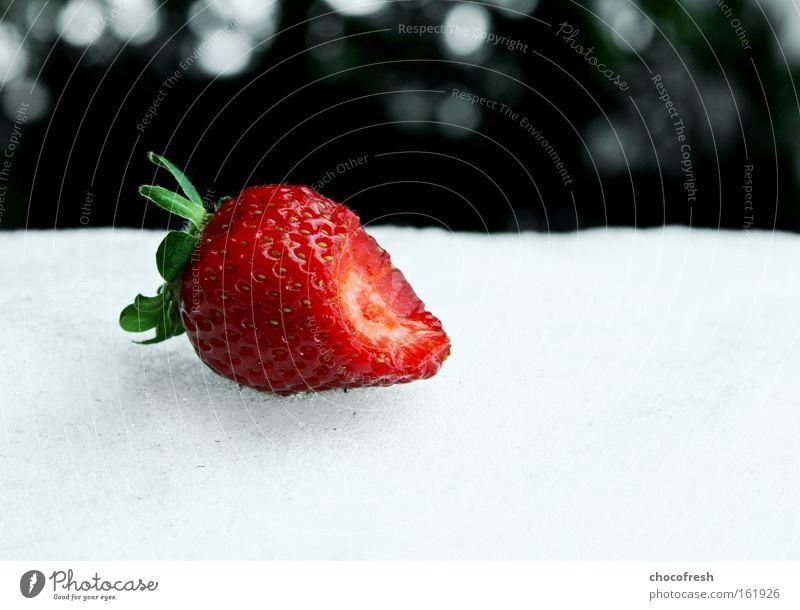 mhhm Wintertraum rot träumen Frucht Vergänglichkeit Sehnsucht genießen Erdbeeren Beeren klein aber fein