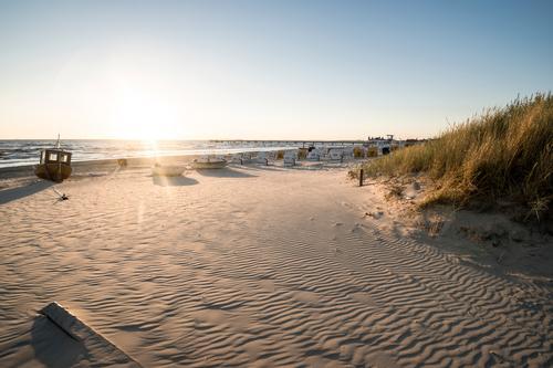 ein neuer Tag am Meer Himmel Natur Ferien & Urlaub & Reisen Sommer Wasser Sonne Strand Umwelt Wege & Pfade Gras Küste Freiheit Sand Tourismus Luft
