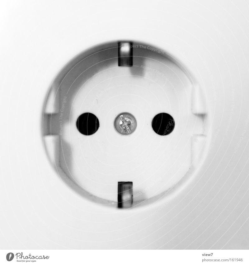 Kontakt Steckdose Energiewirtschaft Elektrizität Haushalt Umwelt ökologisch Symbole & Metaphern packen Konsum Kunststoff Makroaufnahme Nahaufnahme