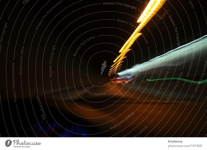 trabant hunt schwarz gelb Straße dunkel Bewegung Wege & Pfade PKW Kunst Design Verkehr Geschwindigkeit bedrohlich Güterverkehr & Logistik Rennsport Tunnel