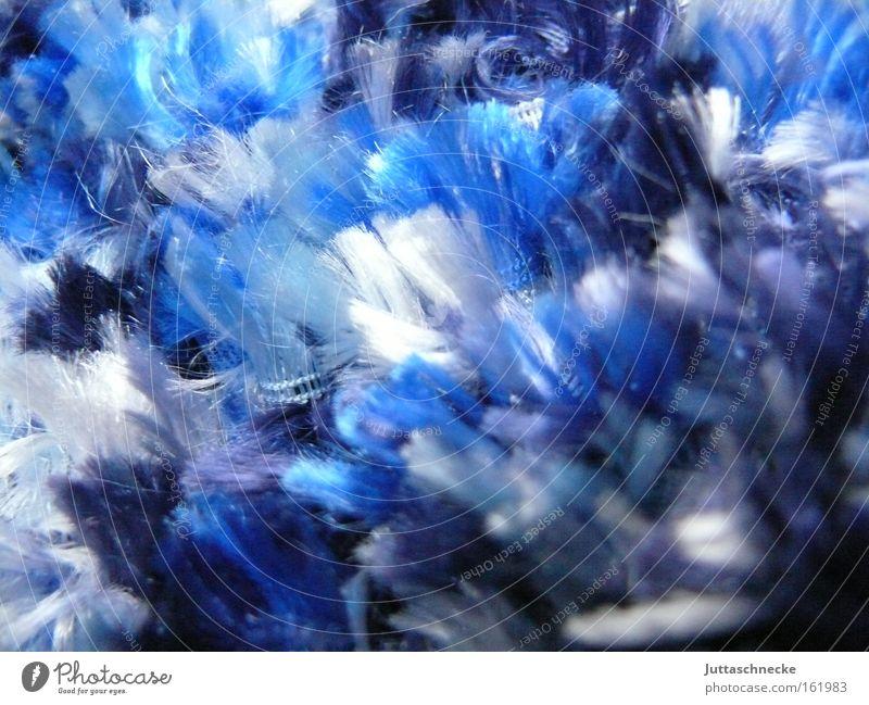 Flauschi blau Winter Wärme Bekleidung weich kuschlig Nähgarn Schal Streicheln Stoff Material Schmerz Plüsch gestrickt Weichspüler Lieblingsstück