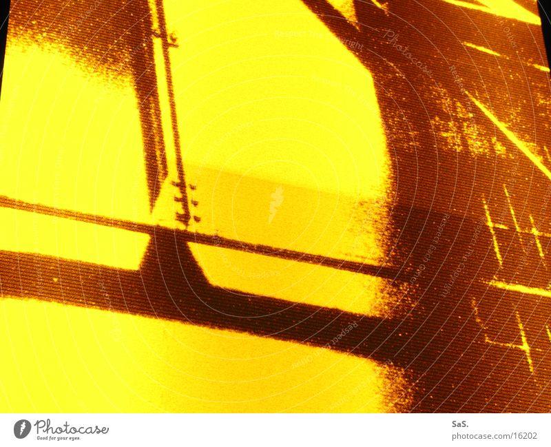 Traumpalast 8 rot schwarz gelb Lampe dunkel Raum Kunst leer Filmindustrie Freizeit & Hobby Kultur Streifen Theater Kino Sessel ausgehen