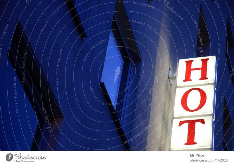 ...EL Fenster Tourismus Gastronomie heiß Werbung Hotel Neonlicht Pension Herberge Unterkunft Geschäftsreise