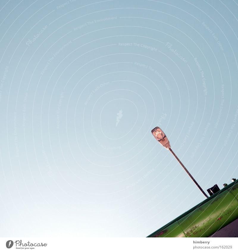 ecklampe Farbe Metall Lampe Design Energiewirtschaft außergewöhnlich Zukunft Industrie Industriefotografie Fabrik unten Laterne Wissenschaften Stahl Eisenrohr
