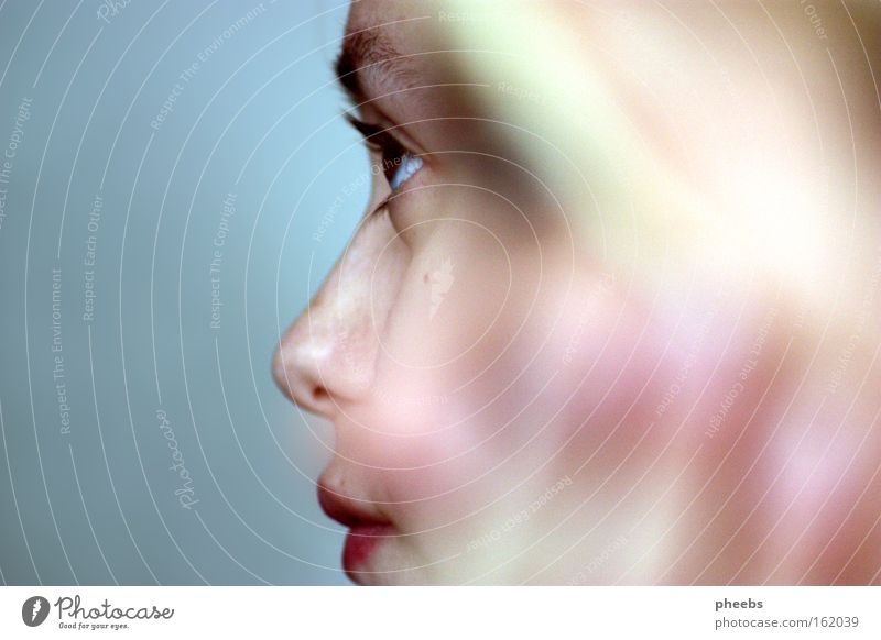 fokus Frau Jugendliche Auge Mund Lippen sanft Blende
