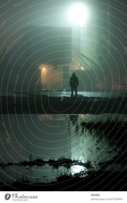 scheining Silhouette Schatten Geister u. Gespenster gruselig Angst Monster Nacht mystisch Reflexion & Spiegelung Wasser kalt Panik Langzeitbelichtung