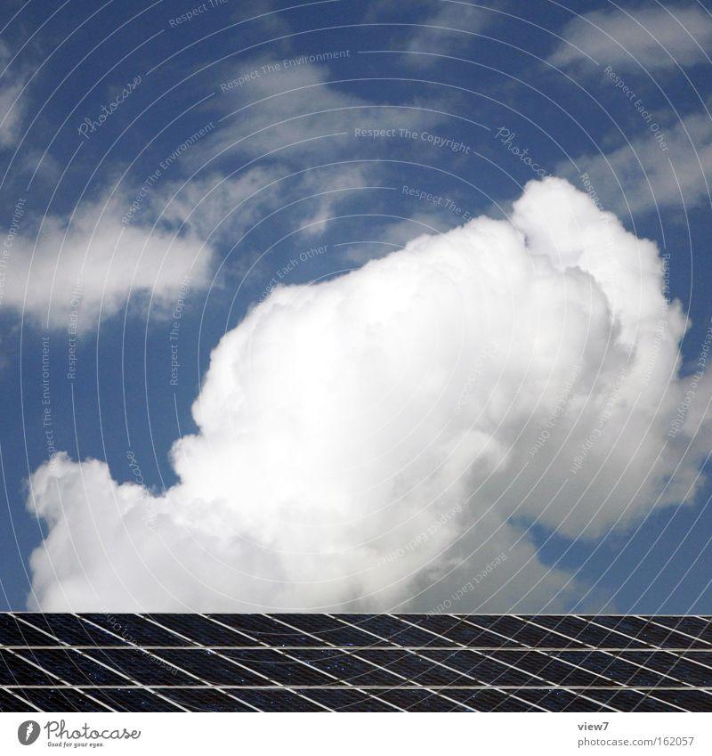 heiter bis wolkig Himmel Wolken Linie Stimmung Energiewirtschaft modern authentisch Elektrizität Streifen Wandel & Veränderung Hoffnung Industrie