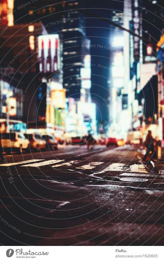 Straßen von Manhattan Ferien & Urlaub & Reisen Tourismus Ausflug Sightseeing Städtereise Nachtleben ausgehen Stadt Stadtzentrum Fußgängerzone bevölkert Hochhaus