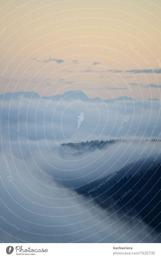 flauschig | Wolkendecke Natur Landschaft Urelemente Luft Himmel Sonnenlicht Herbst Nebel Wald Hügel Berge u. Gebirge blau Stimmung Horizont Klima ruhig Umwelt