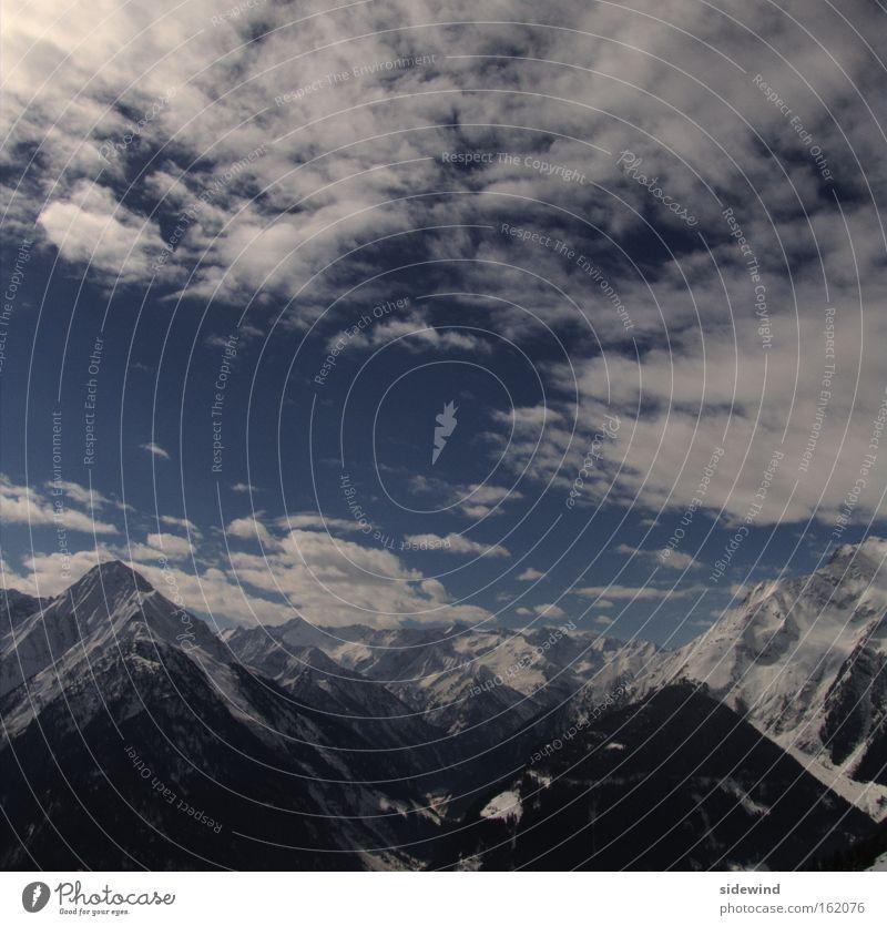 tschüß, bis zum nächsten jahr Himmel Natur Ferien & Urlaub & Reisen Erholung Wolken ruhig Winter Berge u. Gebirge Umwelt Schnee Freiheit Alpen Schneebedeckte Gipfel Frieden Klettern harmonisch