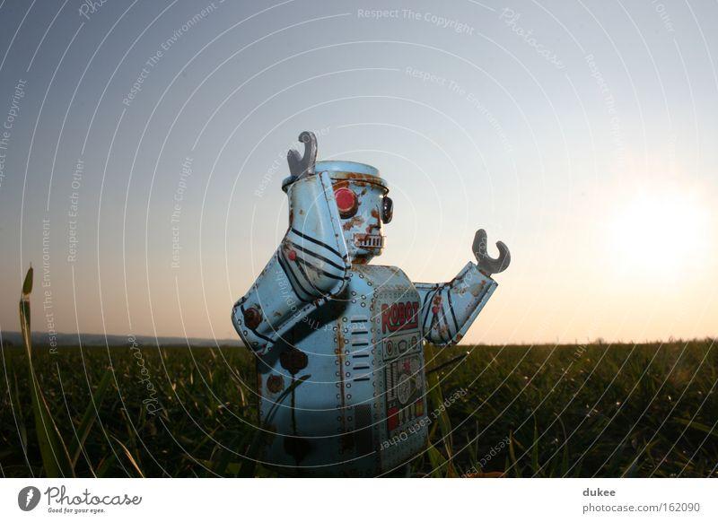 welcome back robot Roboter retro Spielzeug Achtziger Jahre Kreativität Elektronik Maschine old-school Elektrisches Gerät Technik & Technologie Freizeit & Hobby