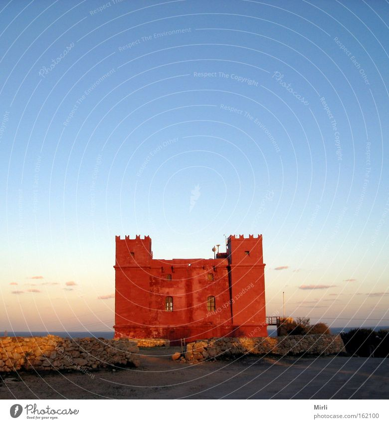 Roter Turm, Malta Burg oder Schloss historisch Marfa Ridge St. Agatha Turm Wachturm Befestigungsanlage