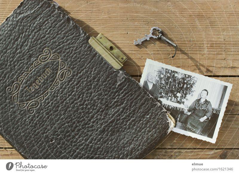 Tagebuch alt Senior Holz Buch Fotografie Vergänglichkeit Papier Kindheitserinnerung lesen historisch geheimnisvoll Vergangenheit Netzwerk festhalten schreiben