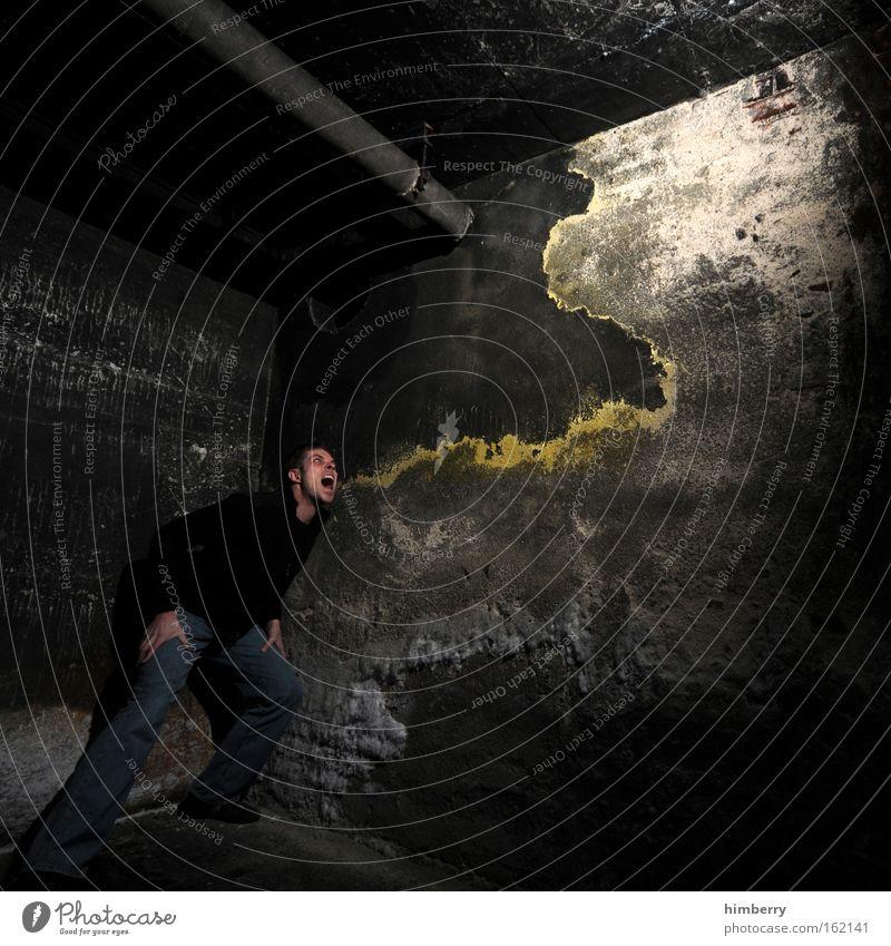 cheese & onion Mensch Mann Jugendliche Erwachsene Wand Stil Mauer Kunst dreckig maskulin Design außergewöhnlich Lifestyle bedrohlich verfallen 18-30 Jahre