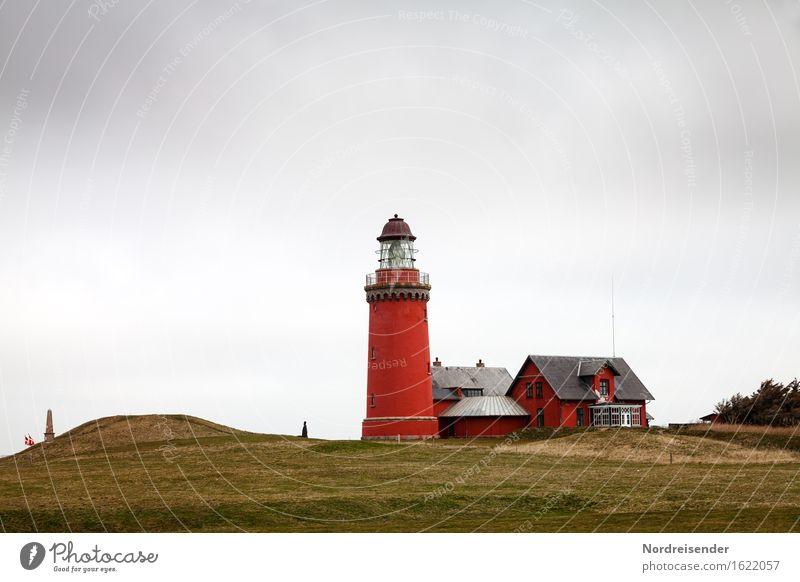 Lighthouse Ferien & Urlaub & Reisen Meer Haus Architektur Wiese Küste Gebäude Regen Tourismus Idylle Wind Wahrzeichen Sehenswürdigkeit Nordsee Schifffahrt