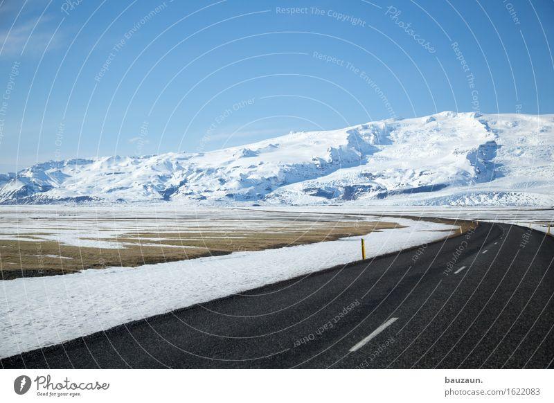 weg. Natur Ferien & Urlaub & Reisen Landschaft Ferne Winter Berge u. Gebirge kalt Umwelt Straße Schnee Freiheit Tourismus Verkehr Eis Erde Ausflug