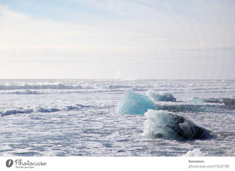 meereis. Natur Ferien & Urlaub & Reisen Wasser Einsamkeit Strand Ferne Winter kalt Umwelt Küste Freiheit Tourismus Eis Erde Wellen Perspektive