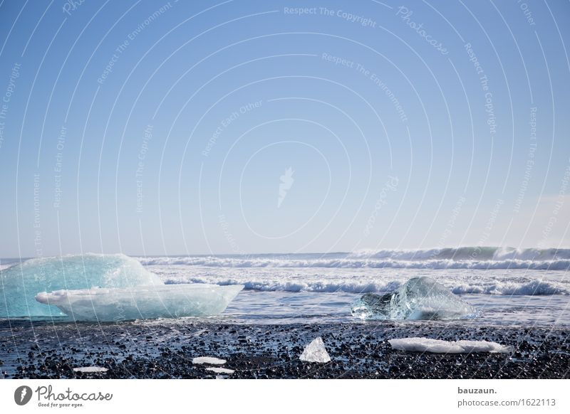 eisstrand. Natur Ferien & Urlaub & Reisen Meer Landschaft Strand Ferne Winter kalt Umwelt Küste Freiheit Tourismus Eis Wellen Ausflug Klima