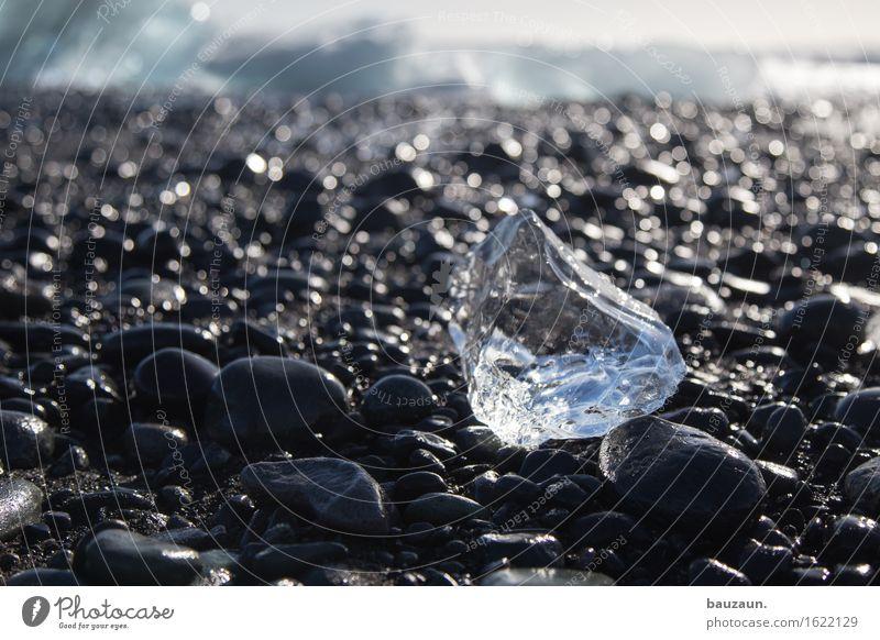 eisklumpen. Natur Ferien & Urlaub & Reisen Strand Ferne Winter kalt Umwelt Schnee Küste Freiheit Tourismus glänzend Eis Ausflug Klima bedrohlich