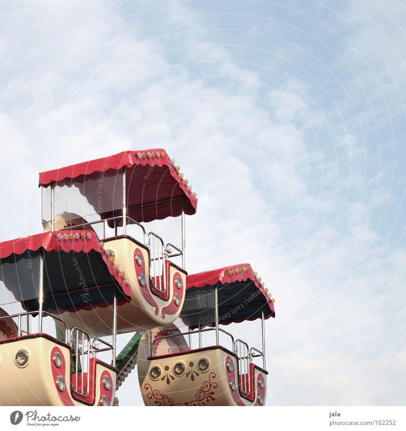 Kleine Wolkenreise Himmel Jahrmarkt Karussell Riesenrad Freude Freizeit & Hobby mehrfarbig hoch drehen Kinderriesenrad Freizeitangebot Kindheit