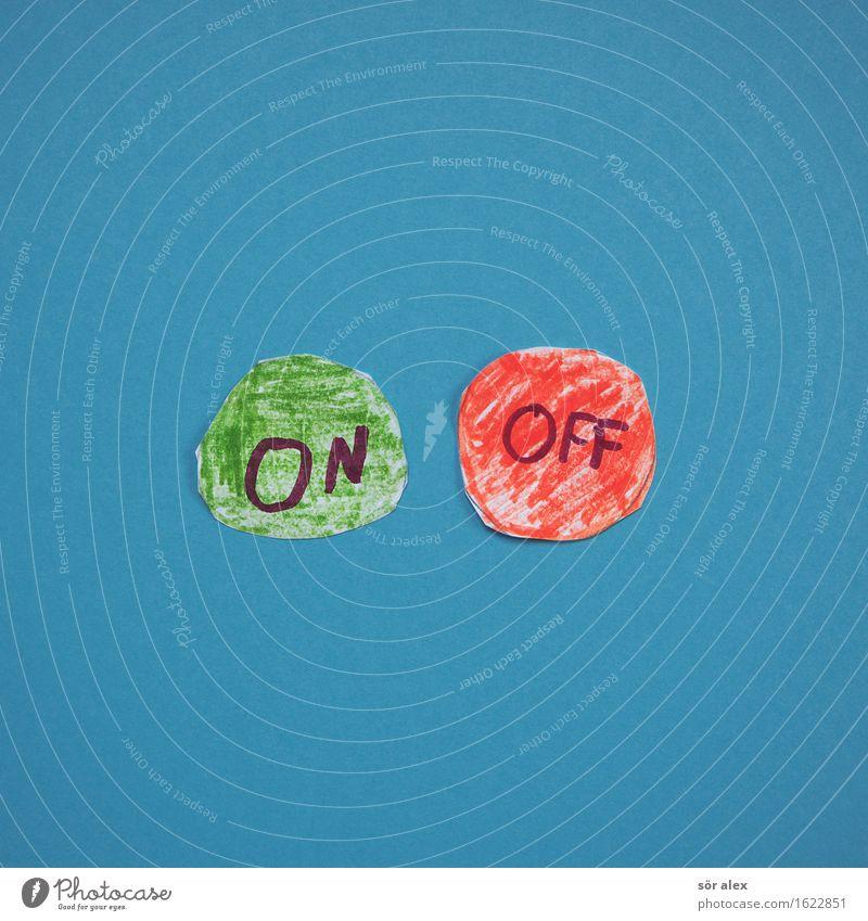 ON/OFF Industrie Energiewirtschaft Telekommunikation Business Unternehmen Karriere Erfolg sprechen Schriftzeichen Beratung entdecken blau grün rot Fortschritt