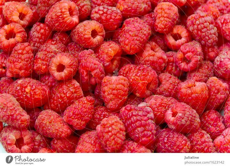 Frische rote Himbeere des Hintergrundes frisch Beeren Vegetarische Ernährung roh organisch Himbeeren