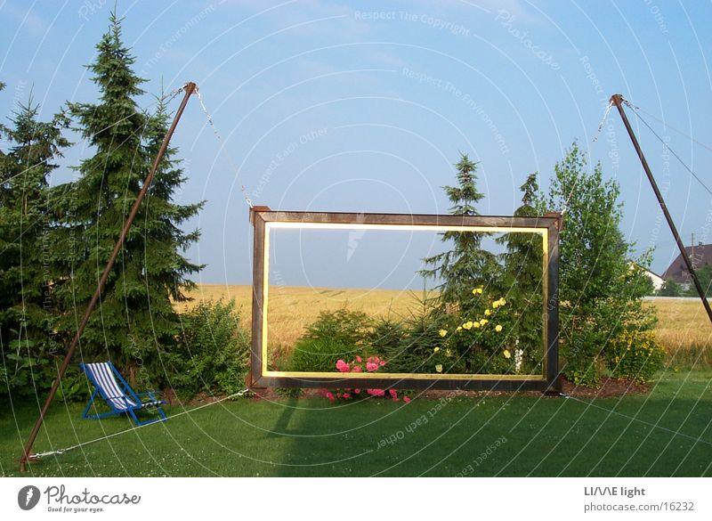Gerahmte Landschaft Sommer Kunsthandwerk
