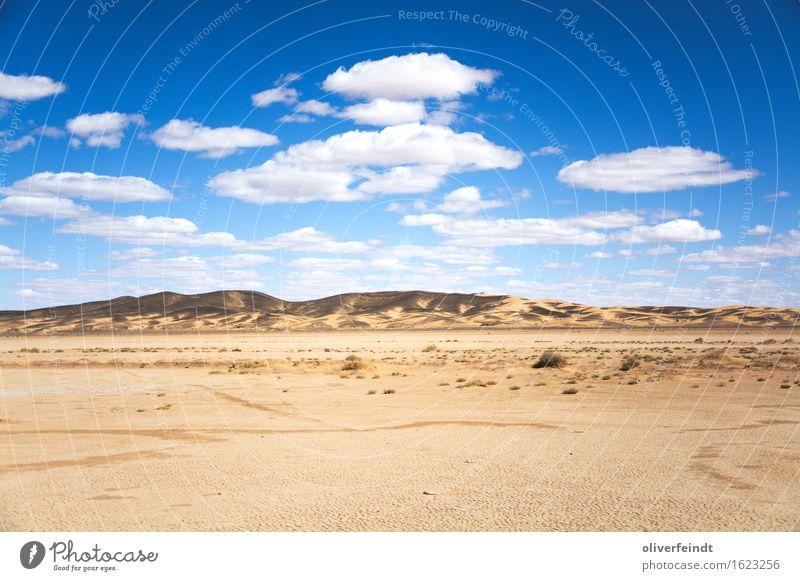Marokko Ferien & Urlaub & Reisen Ausflug Abenteuer Ferne Freiheit Expedition Umwelt Natur Landschaft Erde Sand Himmel Wolken Horizont Sommer Klima