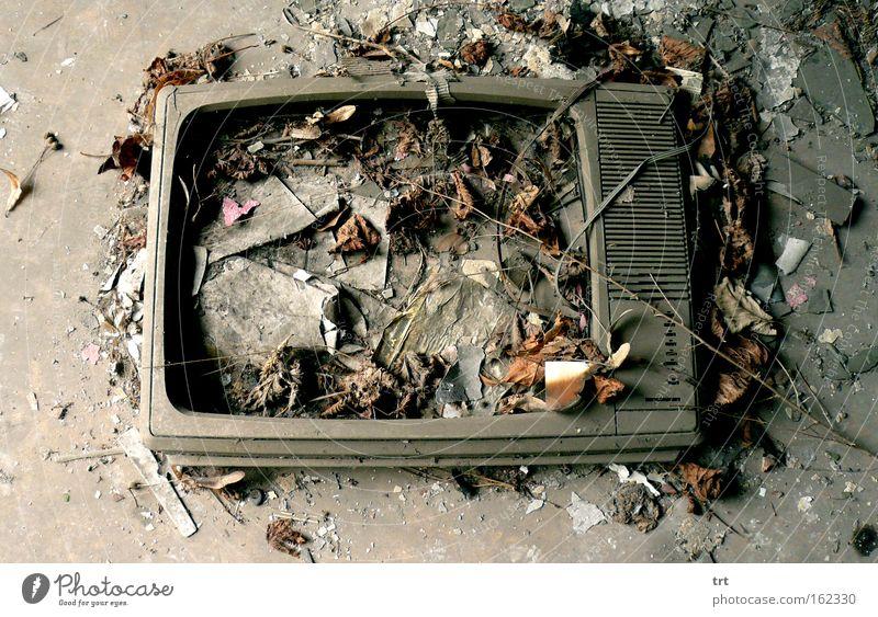 Tod Boden Fernsehen kaputt Müll Bildschirm Zerstörung