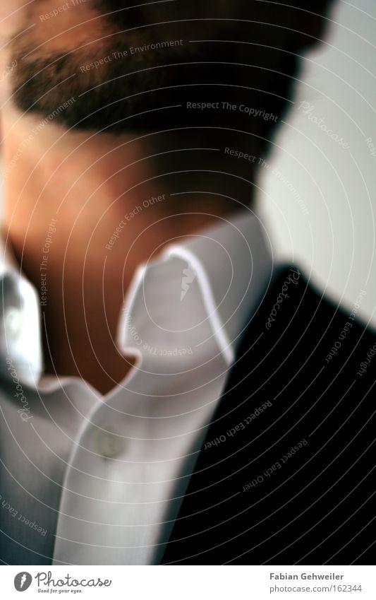 blur Mann Anzug Bart Hemd Kragen Jacke unrasiert fein Unschärfe rau