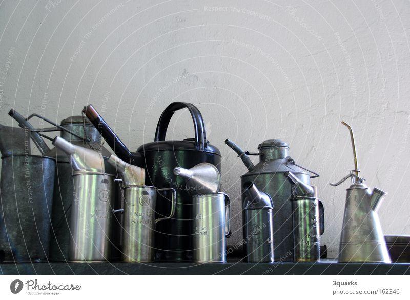 Ölkannen Maschine Werkzeug Handwerk Werkstatt Fett Erdöl Garage Motor Rohstoffe & Kraftstoffe Kannen Trichter