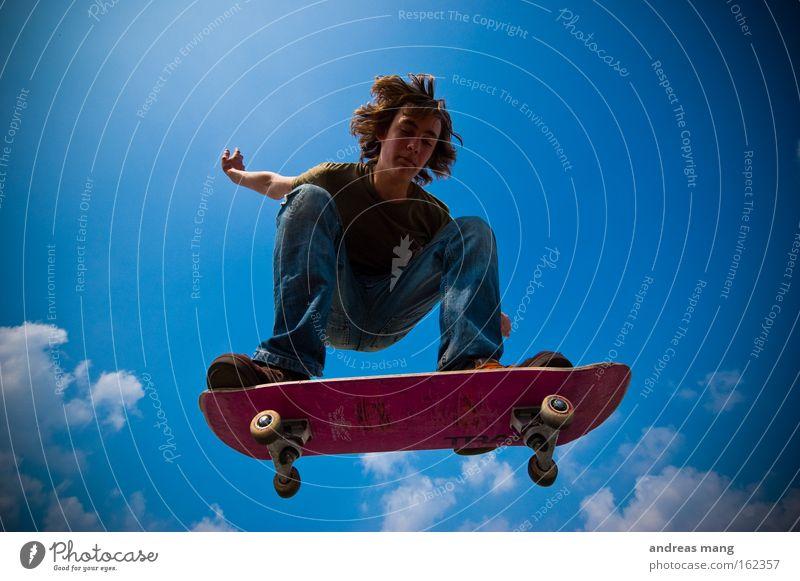BAM Freude Sport Leben springen Stil Freiheit fliegen Skateboarding Konzentration genießen anstrengen extrem Extremsport