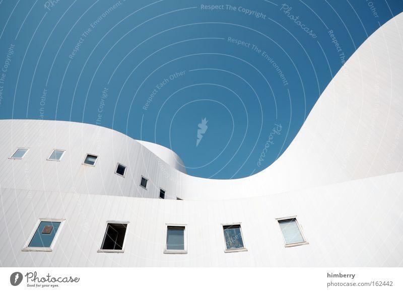 aufschwung Haus Wand Fenster Mauer Gebäude hell Architektur Design elegant groß hoch Fassade modern ästhetisch Dach