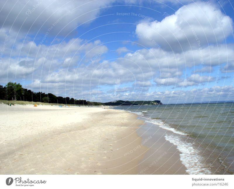 Strand Wasser Wolken Wellen Rügen