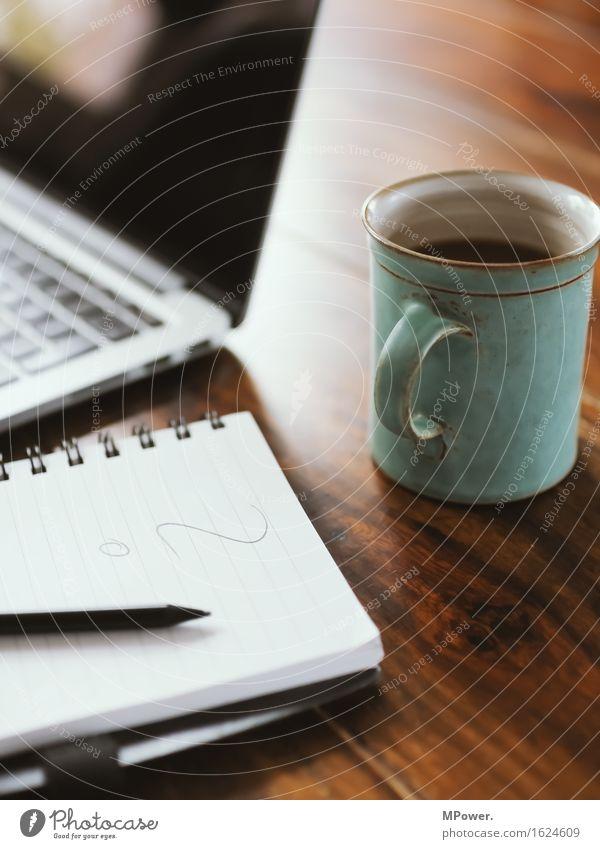 work in process Büro Technik & Technologie Telekommunikation Finger berühren Kaffee schreiben Internet Informationstechnologie Schreibstift Notebook Tastatur